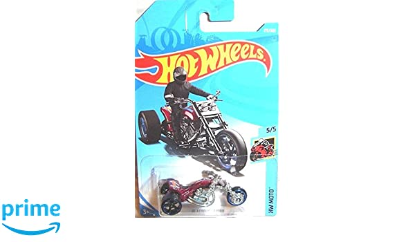 Amazon.com: Hot Wheels 2018 50th Anniversary HW Moto Blastous Moto (Motorcycle) 179/365, Maroon: Toys & Games