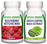 Raspberry Ketone Max & Green Coffee Bean Extract by Natural Answers - Appetite Suppressant Diet Pills - Maximum Strength Fat Burning Supplement - Natural Quick Weight Loss Tablets - UK Manufactured