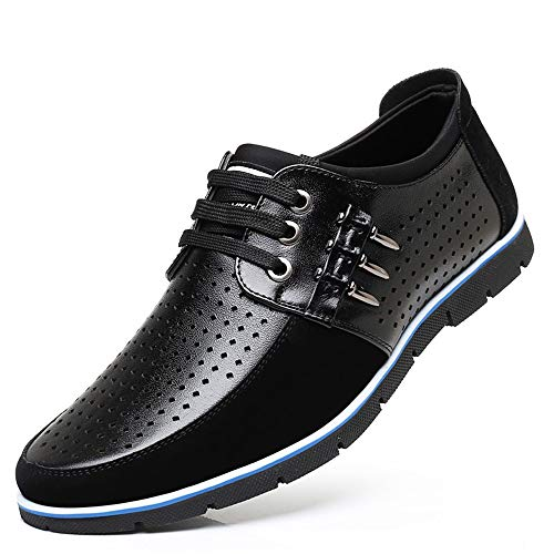 Scava Nero EU 44 fuori Shoes Dimensione Derby for ZHRUI Marrone up Lace Colore up confortevole Driving Casual Tacco Men nascosto Lace CUxqPR