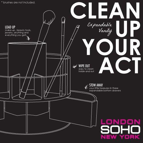 Amazoncom SOHO Expandable Cylinder Vanity Acrylic Organizer Beauty