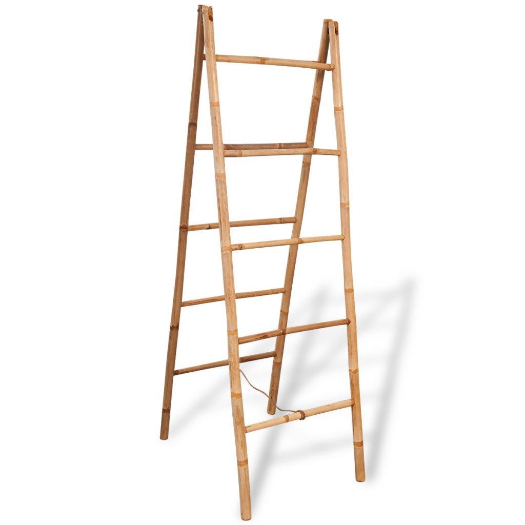 festnight pie escalera - Toallero doble para toalla de bambú con 5 peldaños 50 x 160 cm: Amazon.es: Hogar