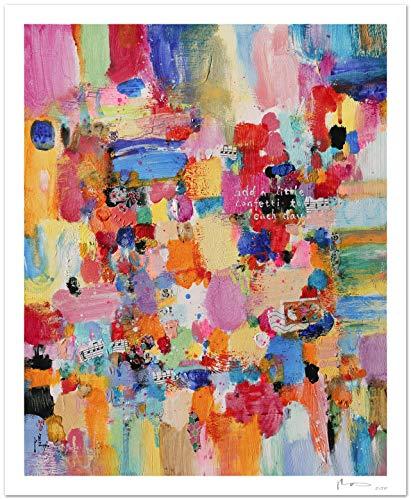 Reproducción de arte - Add a little confetti to each day I - sobre ...