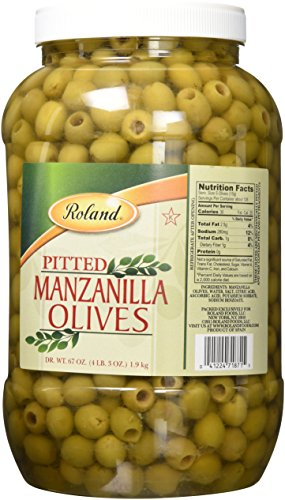 (Roland Foods Pitted Manzanilla Olives 340/360, 128 Fluid Ounce)