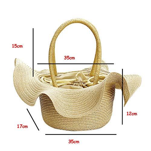 Sac Dames Sac Mode Portatif De Brown Forme Provisions Sac Main De De à Chapeau De De à gOqSAwzng
