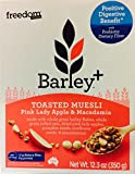 Freedom Foods Barley+ Toasted Muesli with Pink Lady Apple & Macadamia 12.3oz (2 count)