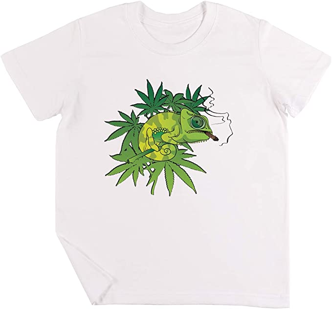 mariguana - Iguana Gracioso Niños Chicos Chicas Unisexo Camiseta Blanco: Amazon.es: Ropa y accesorios