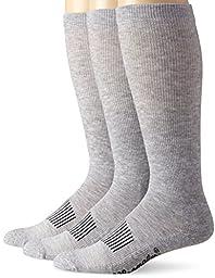 Wrangler Men\'s Western Boot Socks, Grey, Large(Pack of 3)