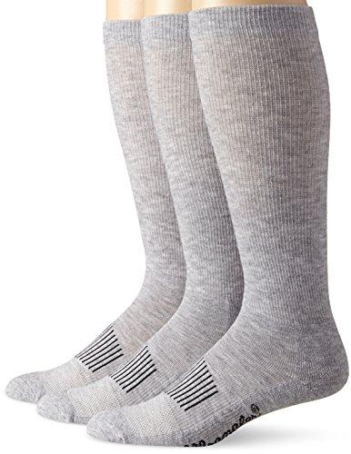 Wrangler Men's Western Boot Socks (Pack of 3),Grey,Sock Size:Large(10-13)/Shoe Size: 9-13