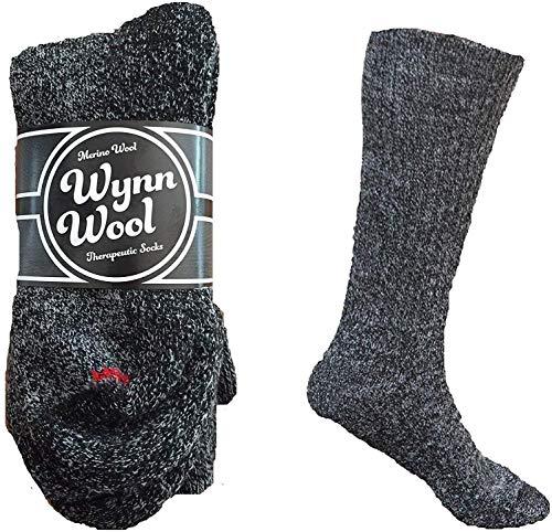 Diabetic Merino Wool Loose Fitting Comfortable Unisex Socks (2 Pair)