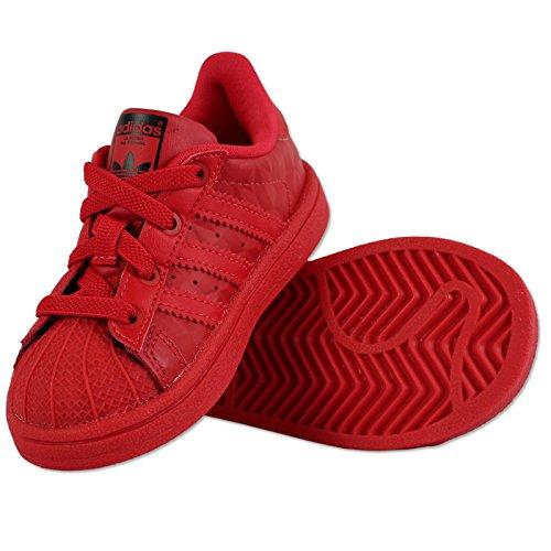 adidas Zapatillas de Gimnasia de Piel Para Niño Rojo Rojo
