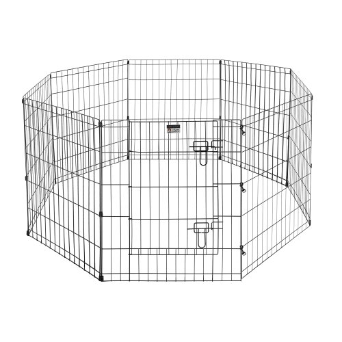Pet Trex Exercise Playpen for Dogs with High Panel and Gate, 24 x 30'