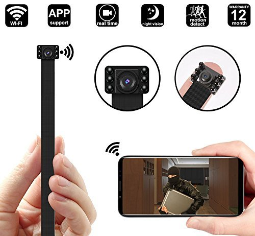 1080P Nigiht Vision WIFI Spy Hidden Camera DigiHero Mini WiFi Camera/Night vision Camera/Nanny Cam with WiFi Remote View/Motion Detection for Home/Office.Support iOS/Android/PC B [並行輸入品] B07BJ1F3WG