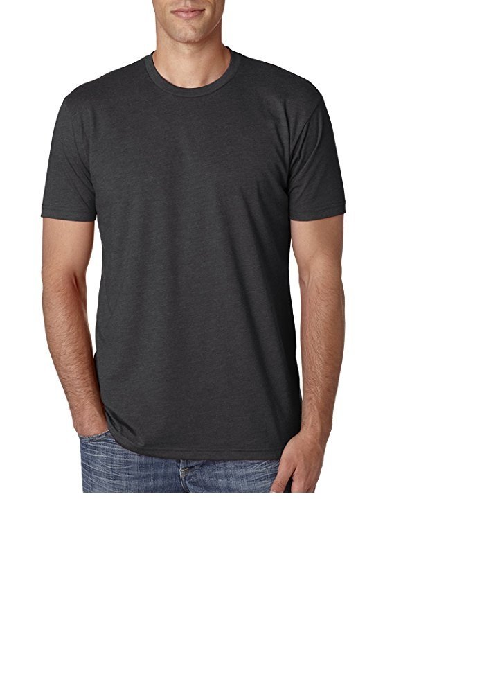 Next Level Mens Premium Fitted Crew Tee N6210-Charcoal-XX-Large
