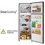 LG 284 L 2 Star Smart Inverter Frost-Free Double Door Refrigerator (GL-T302RSCY, Convertible, Scarlet Charm)