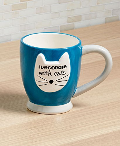 Sasha Mug - Crazy Cat Mugs (Blue- I Decorate w Cats)