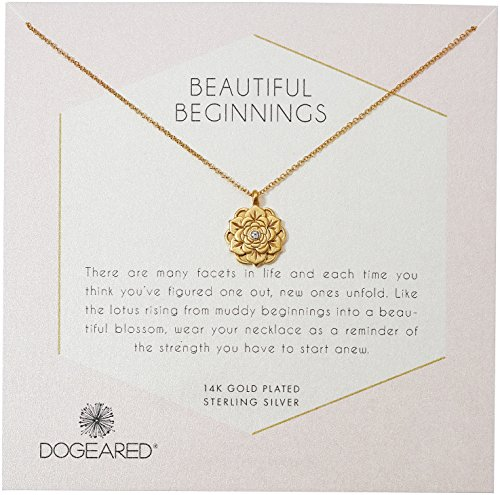 Link Necklace Double Designer (Dogeared Womens Gold Double Link Friends Chain Necklace, 16)