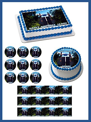 Jurassic World 3 Edible Birthday Cake OR Cupcake Topper 325 6 Pieces Sheet Inches