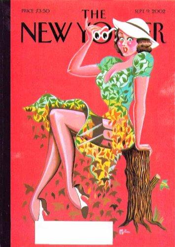 New Yorker Dresses - New Yorker cover MR girl's dress of leaves falls in autumn 9/9 2002 garter belt