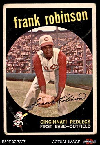 1959 Topps # 435 Frank Robinson Cincinnati Reds (Baseball Card) Dean's Cards 1.5 - FAIR - Frank Robinson Topps Baseball