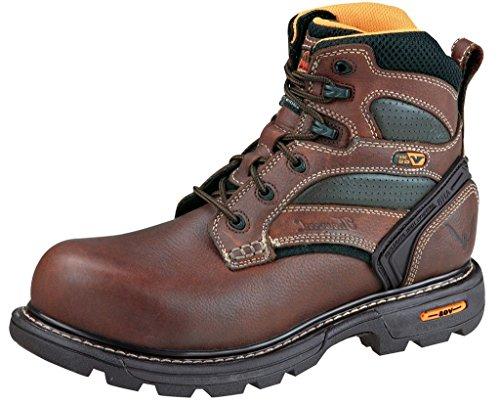 Thorogood 814-4447 Men's GENFlex2 6-in Plain Toe - Non-Safety Toe Brown 12 W US (Thorogood Mens Gen Flex 6 In Work Boots)