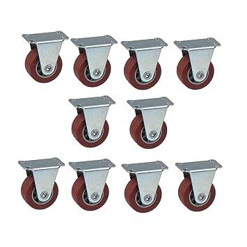 MuMa Ruedas Rueda De Poliuretano Rojo Orientación para Muebles Industria Rueda 1,5 Pulgadas 10 Paquetes (Tamaño : 1.5 Inches): Amazon.es: Hogar