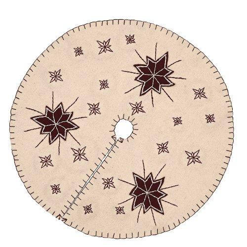 Christmas Holiday Decor - North Star White Mini Tree Skirt (Skirts Small Tree Christmas)