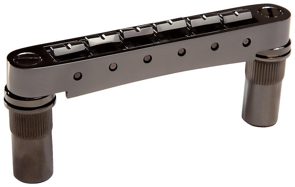 Graph Tech ResoMax NV1 Auto Lock Bridge with Metal Saddle for 6mm Posts Black Nickel