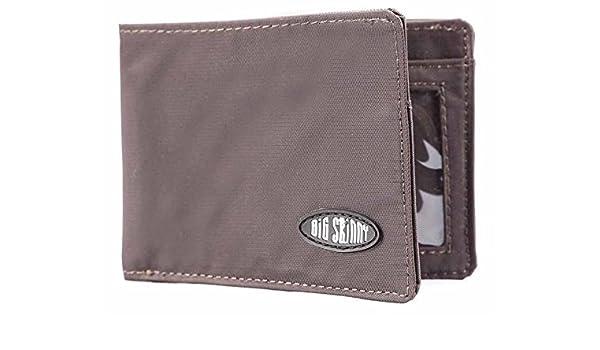 Big Skinny Mens Compact Sports Bi-Fold Slim Wallet, Holds ...