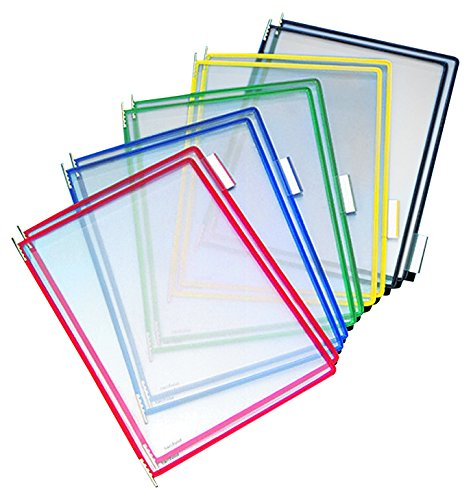 (Tarifold P090 Pivoting Pockets, Assorted Colors, 10-Pack)