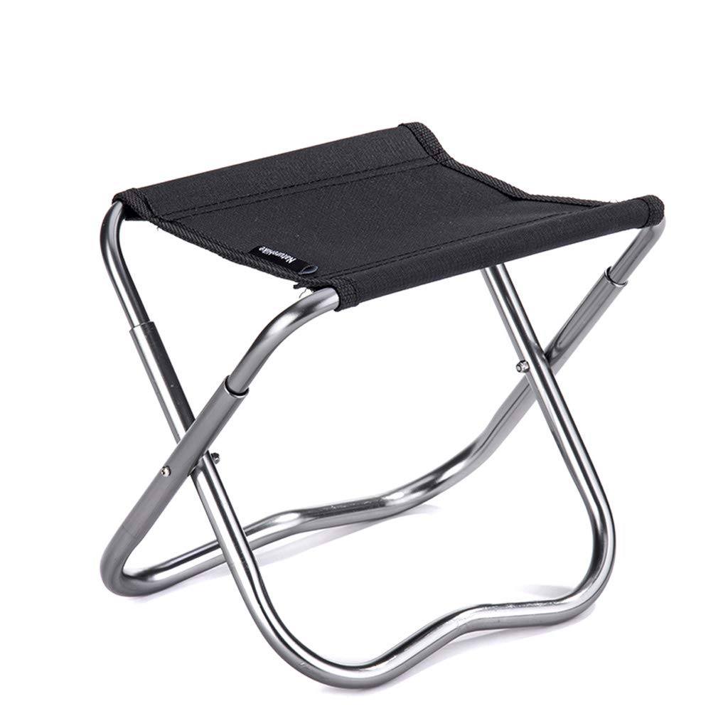 YAXIAO-Folding chair Stool Outdoor Folding Stool Portable seat Leisure Small Bench Folding Chair Fishing Stool Black 23.5x20cm