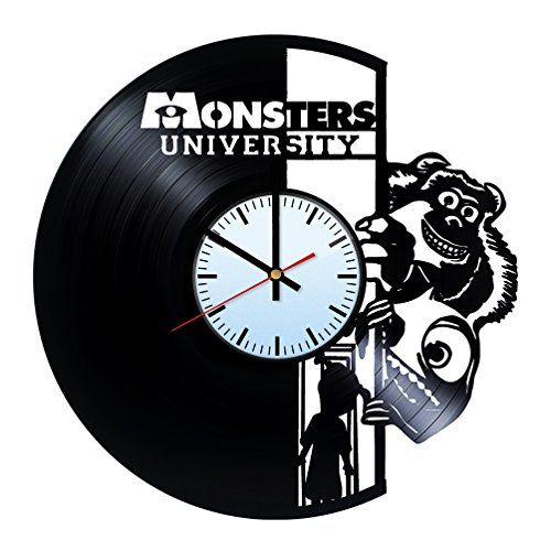 Baden Baden Monsters University Vinyl Record Wall Clock - Get unique of home room wall decor - Gift ideas for him and her - Unique Art Design