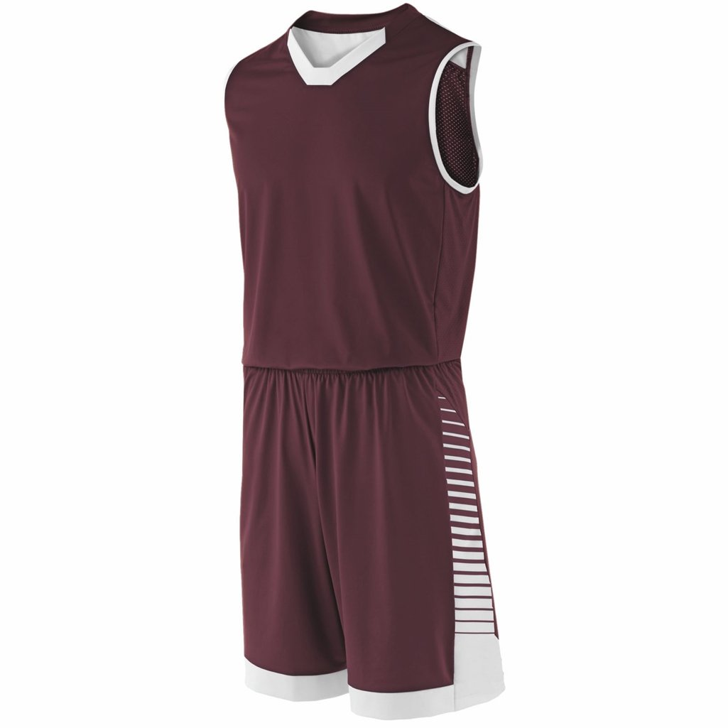 Holloway Youth Arc Short (Small, Maroon/White) by Holloway