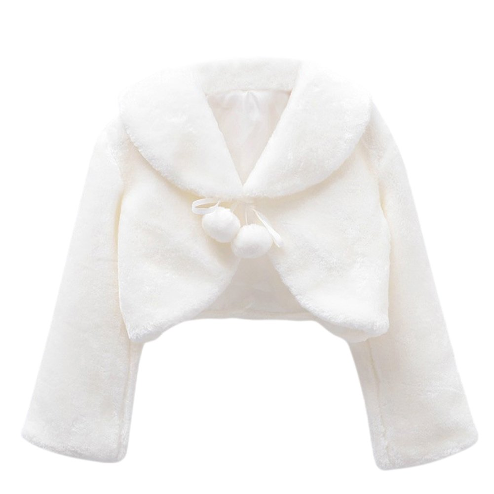Genda 2Archer Princess Flower Girls Faux Fur Bolero Shrug Party Wedding Cape BBZYRS001