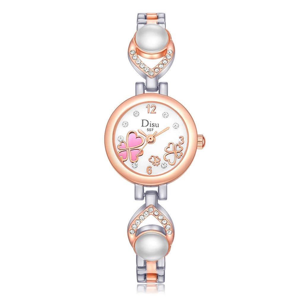 Hswt Reloj De Pulsera para Mujer Acero Inoxidable Decoración ...