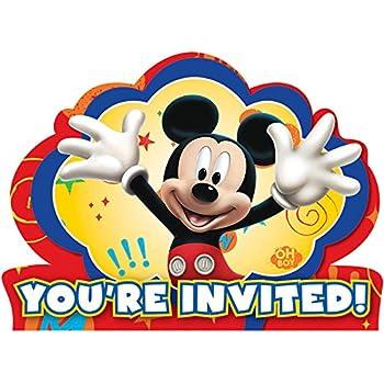 amazon com customized mickey mouse birthday party invitation