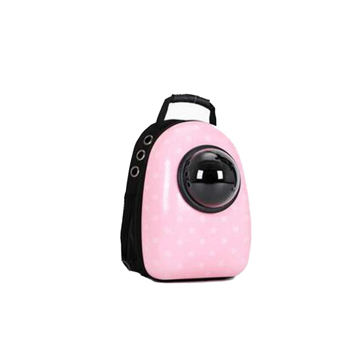 Pink Transparent pet Carrier for Cats, Waterproof Puppy Travel Bag, Breathable Airline Approved Space Capsule(Black, Pink, Yellow) (color   Pink)
