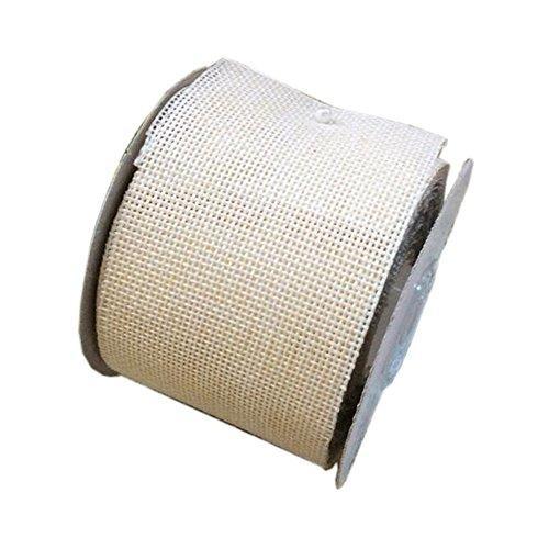 Jute Ribbon Ivory (Ivory Linenette Jute Burlap Ribbon Roll 2