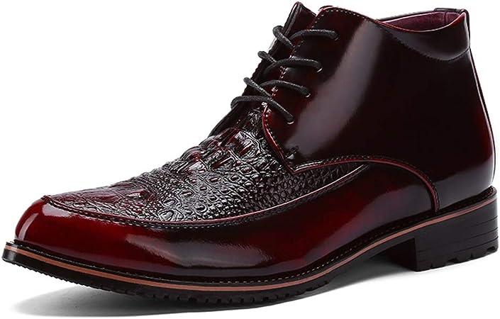 Zhulongjin Vestido de Negocios for Hombre Botines Oxford for Hombre Zapatos Derby de Trabajo con Cordones Ocasionales Cremallera Lateral Suela de Cuero sintético Moda Resistente al Desgaste: Amazon.es: Hogar