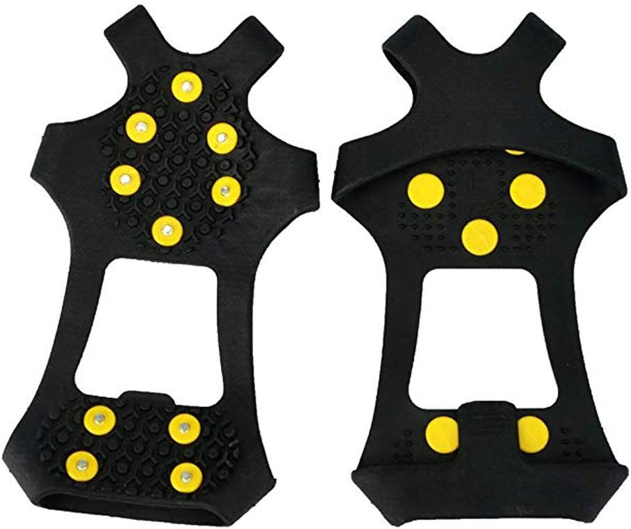 Persei 10 Studs Anti-Skid Ice Crampons Snow Shoe Spikes Thermoplastic Elastomer Climbing Grips Cleats Over Shoes Covers