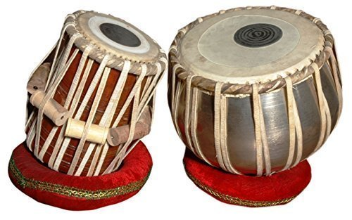 Handmade Steel Tabla Drum Set By Best Indian Professionals with Base N Cover