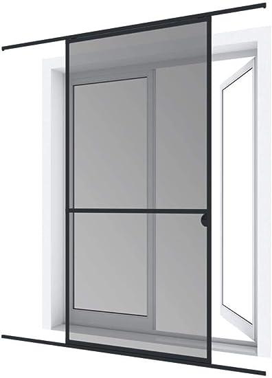 Pro insect PRO - Mosquitera de doble puerta corredera (240 x 240 cm), color blanco y gris: Amazon.es: Bricolaje y herramientas