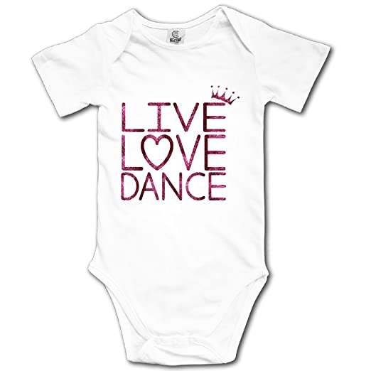 a0eddf85f Amazon.com: Baby Toddler Climbing Bodysuit Live Love Dance Queen ...