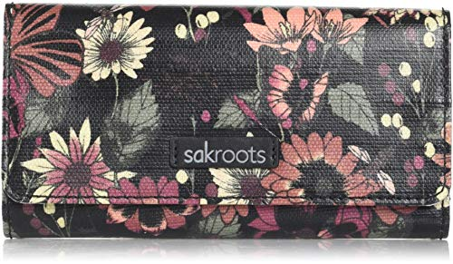 Sakroots Snap Trifold Wallet, graphite in
