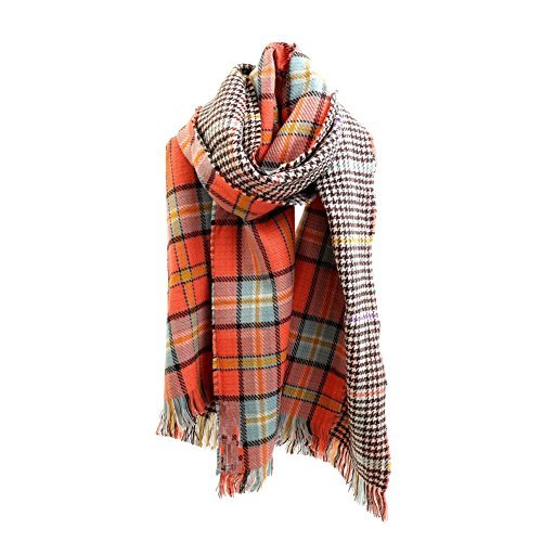 Women's Cozy Tartan Blanket Plaid Scarf Wrap Shawl Scarves Checked Pashmina Cape