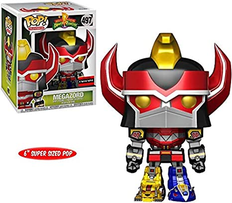 ac0329962ee Image Unavailable. Image not available for. Color  Funko Power Rangers  Metallic Megazord 6 quot  Pop Vinyl Figure ...
