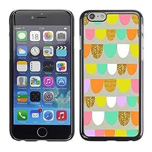 Ziland / Slim Design Case Cover Shel / Art Fun Playful Pink Shapes / Apple iPhone 6