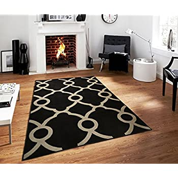 Large Moroccan Trellis Modern Rug For Living Room Black Gray Rug 8x11 Rugs  Contemporary Rug Area Rugs 8x10 Clearance Under 100