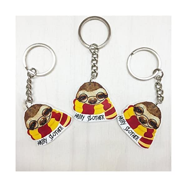 Peachyapricot Hairy Slother Cute Sloth Keychain -