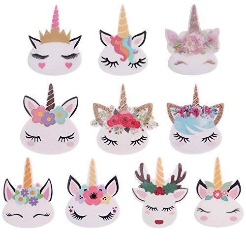 50 Pieces Mix Unicorn Slime Charms Beads Resin Flatbacks of Slime Beads Supplies for Ornament Scrapbook DIY Crafts