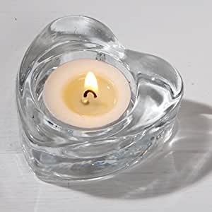 Forma de Corazón de té de cristal titular de la luz